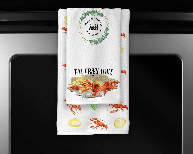 EAT CRAY LOVE Towels Set