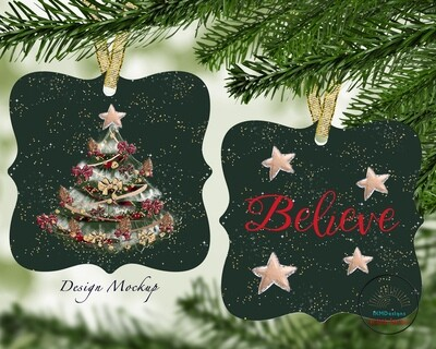 Christmas Tree/Believe for Sublimation