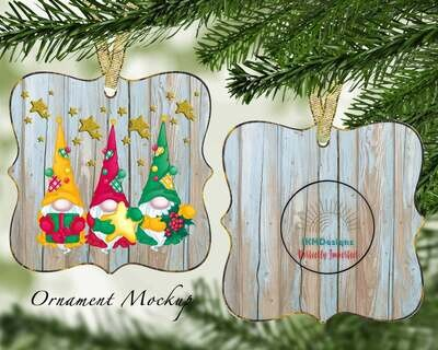 Christmas Gnomes  Ornament for Sublimation