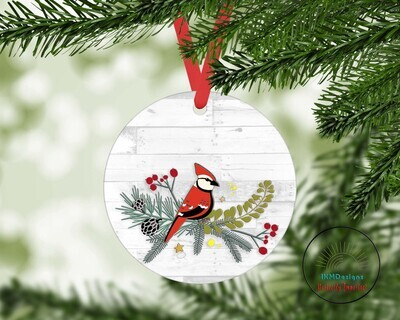 Christmas Tree Round Ornament Sublimation
