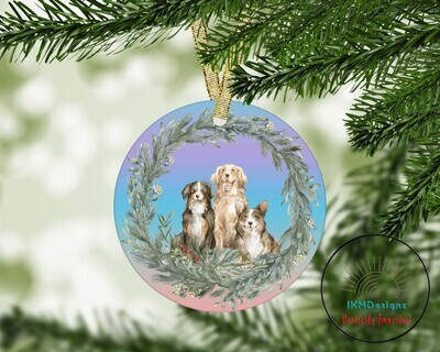Christmas Round Ornament for Sublimation
