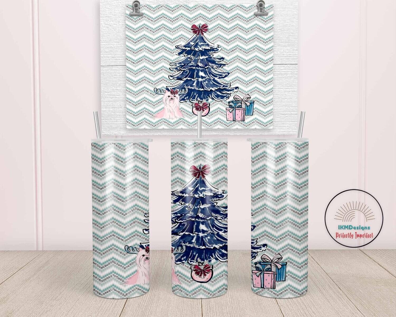 "Christmas Tree"" template for 20oz skinny Tumbler."