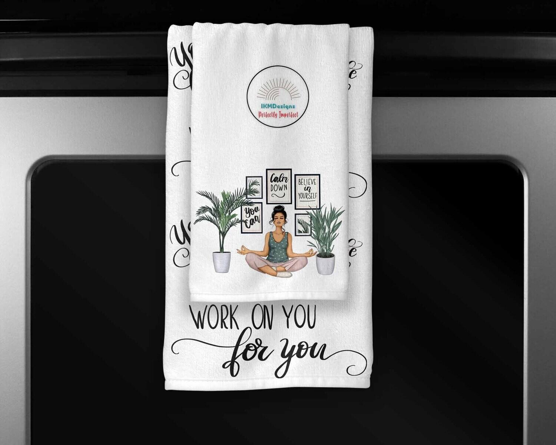 "Digital Downloads Towel Set ""Mindfulness"""