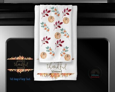 "Digital Downloads Fall Towel Set "" Welcome"""