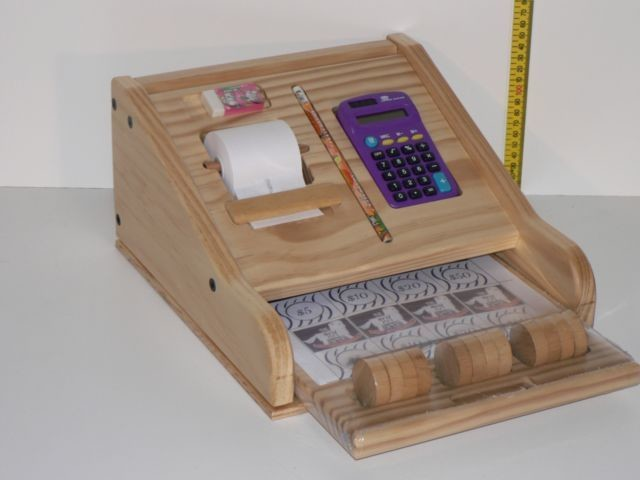 Cash Register hand crafted from wood in Australia