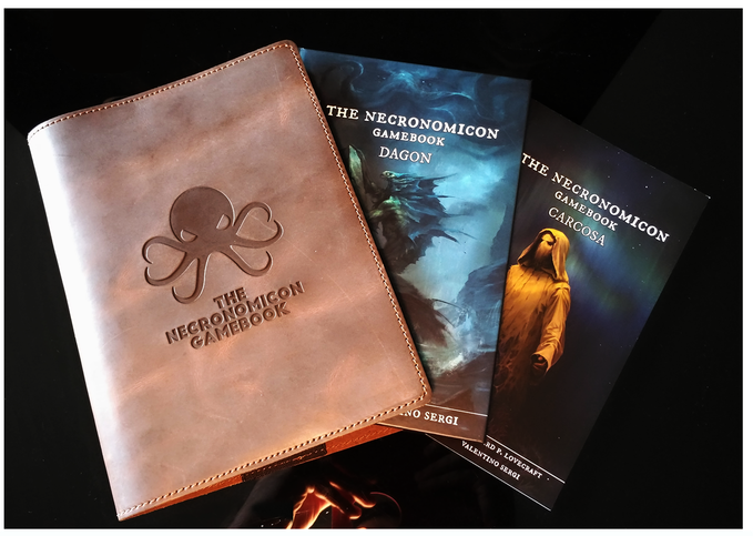 THE NECRONOMICON GAMEBOOK - LIMITED LEATHER EDITION