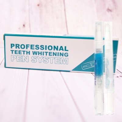 Teeth Whitening Two 4ml Pens Kit 1 Carbamide Peroxide Tooth whitening Gel and 1 Remineralization Gel