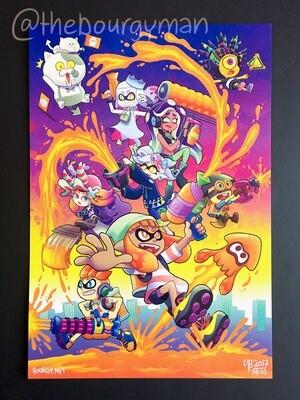 Spla2n (Splatoon 2) poster/affiche