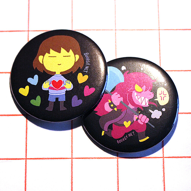 """Undertale/Deltarune 2.25"""" button/macaron (12 designs)"""