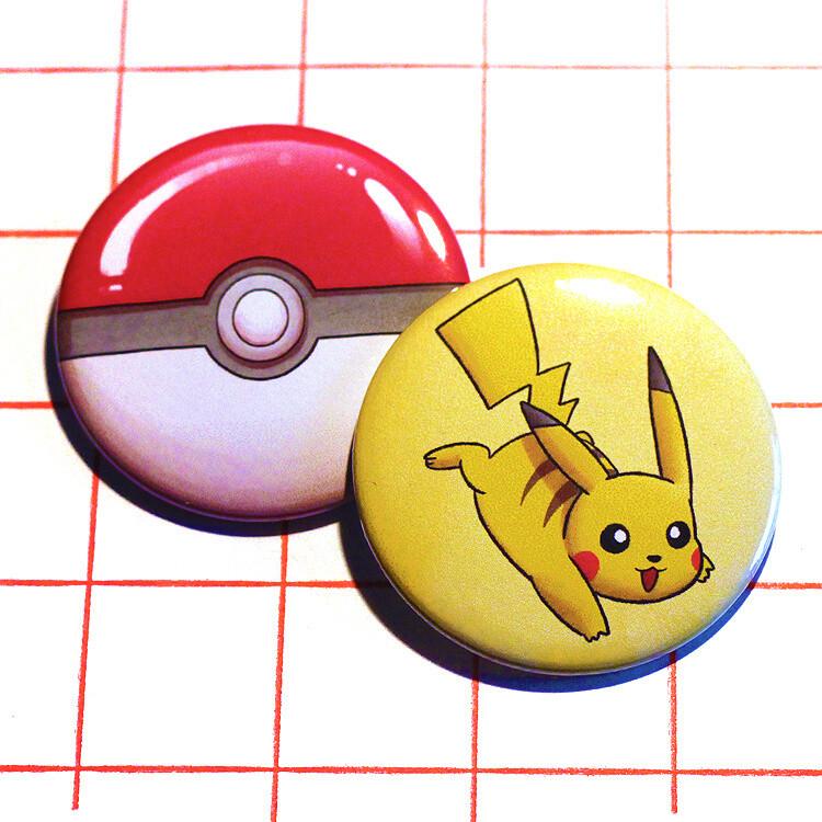 """Pokémon 2.25"""" button/macaron (12 designs)"""