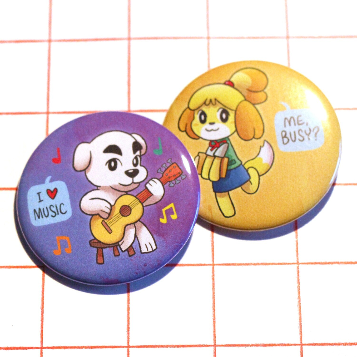 "Animal Crossing 2.25"" button/macaron (3 designs)"