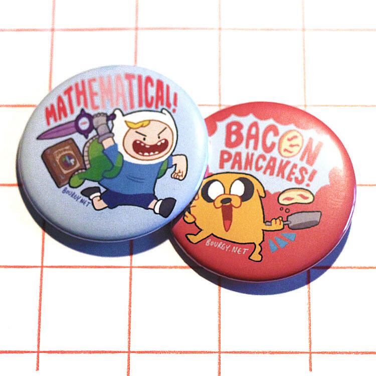"Adventure Time 2.25"" button/macaron (12 designs)"