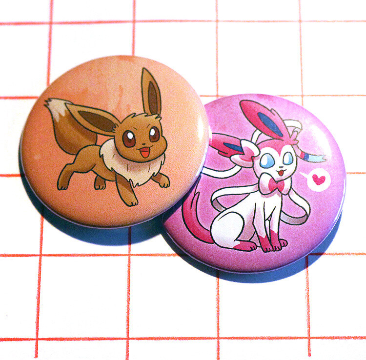 """Eeveelutions 2.25"""" button/macaron (9 designs)"""
