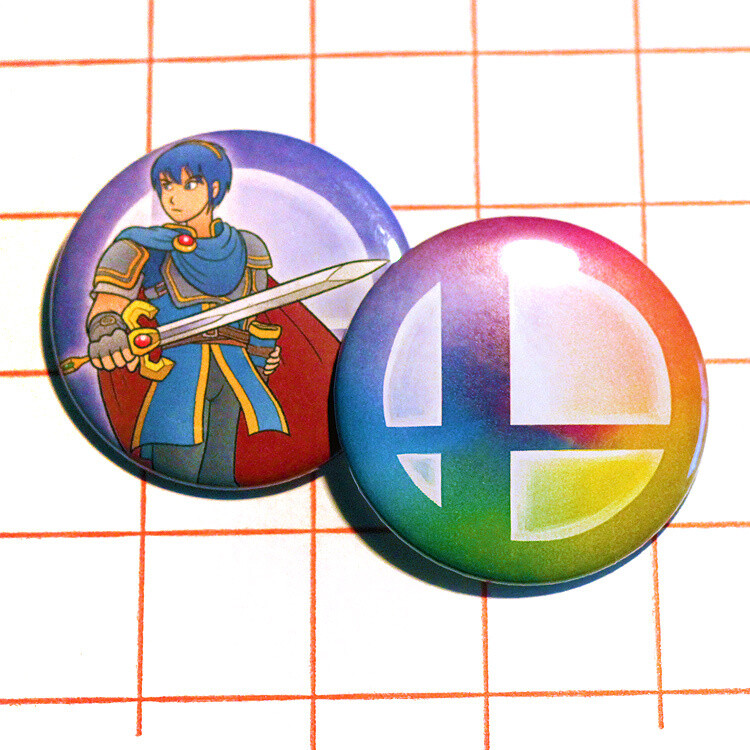 "Super Smash Bros. 2.25"" button/macaron (92 designs)"