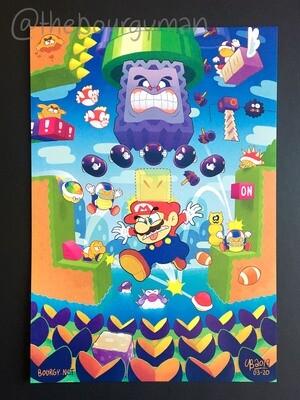 Kaizo Mario World (Super Mario) poster/affiche