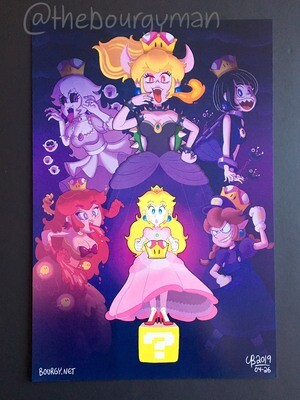 Peach and the Super Crown (feat. Bowsette) (Super Mario) poster/affiche