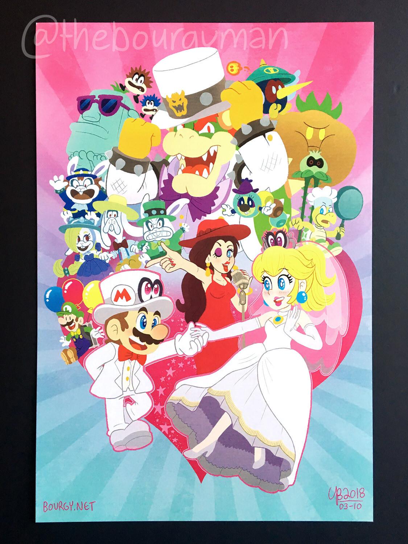 A Mario Celebration (Super Mario Odyssey) poster/affiche