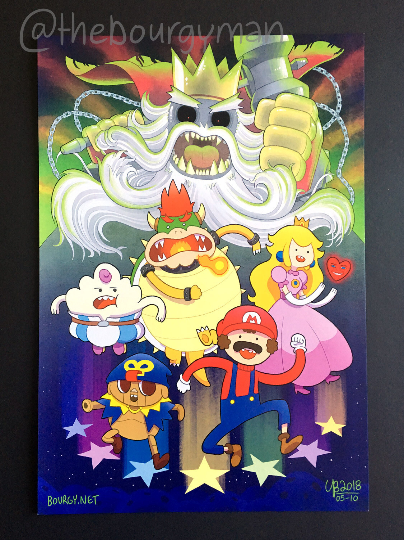 Super Adventure RPG (Super Mario vs. Adventure Time) poster/affiche