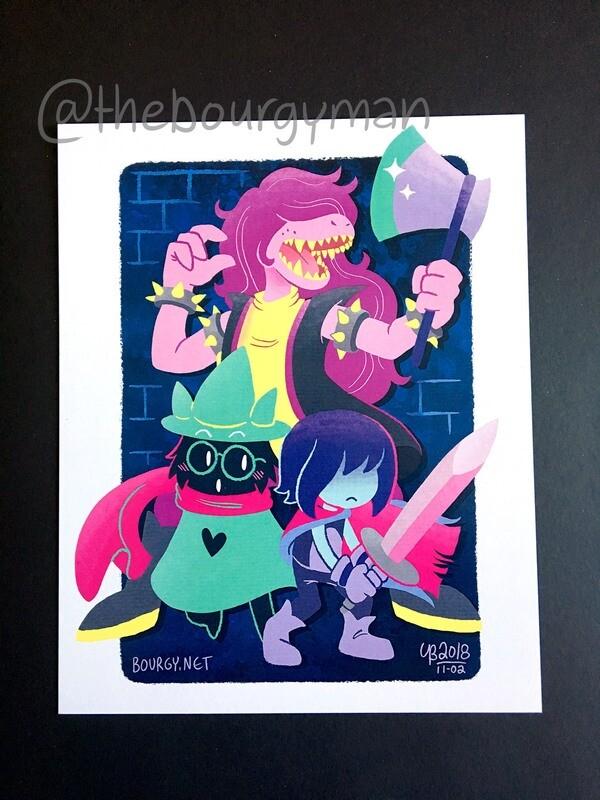 Kris, Ralsei & Susie (Deltatune) poster/affiche