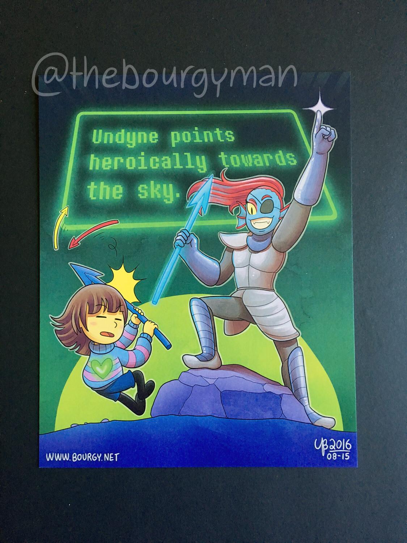 Undyne (Undertale) poster/affiche