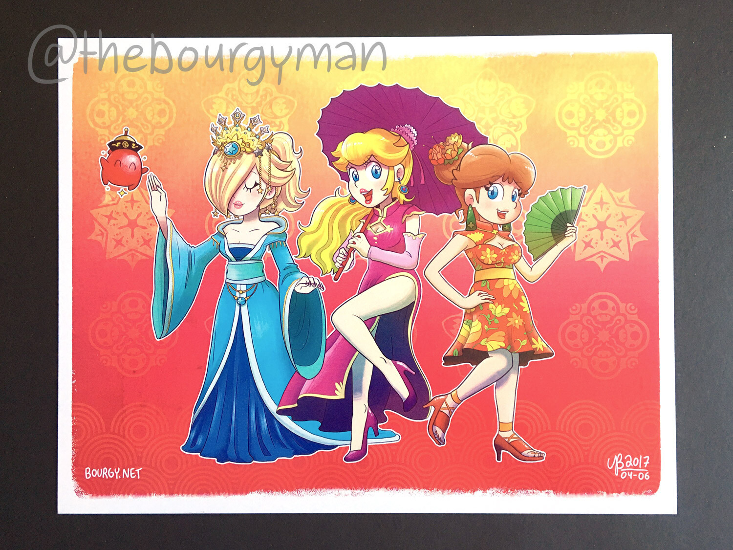 Chinese Dress Princesses (Super Mario) poster/affiche