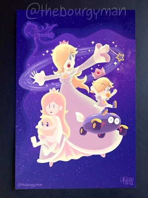 Watcher of the Cosmos (Super Mario) poster/affiche