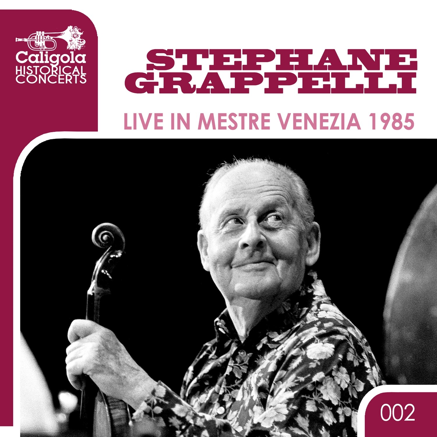 STEPHANE GRAPPELLI  «Live in Mestre Venezia 1985»  (files .wav + covers .jpeg + booklet .pdf)