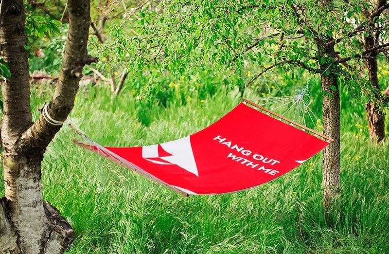 Hangmat met jouw bedrijfsnaam
