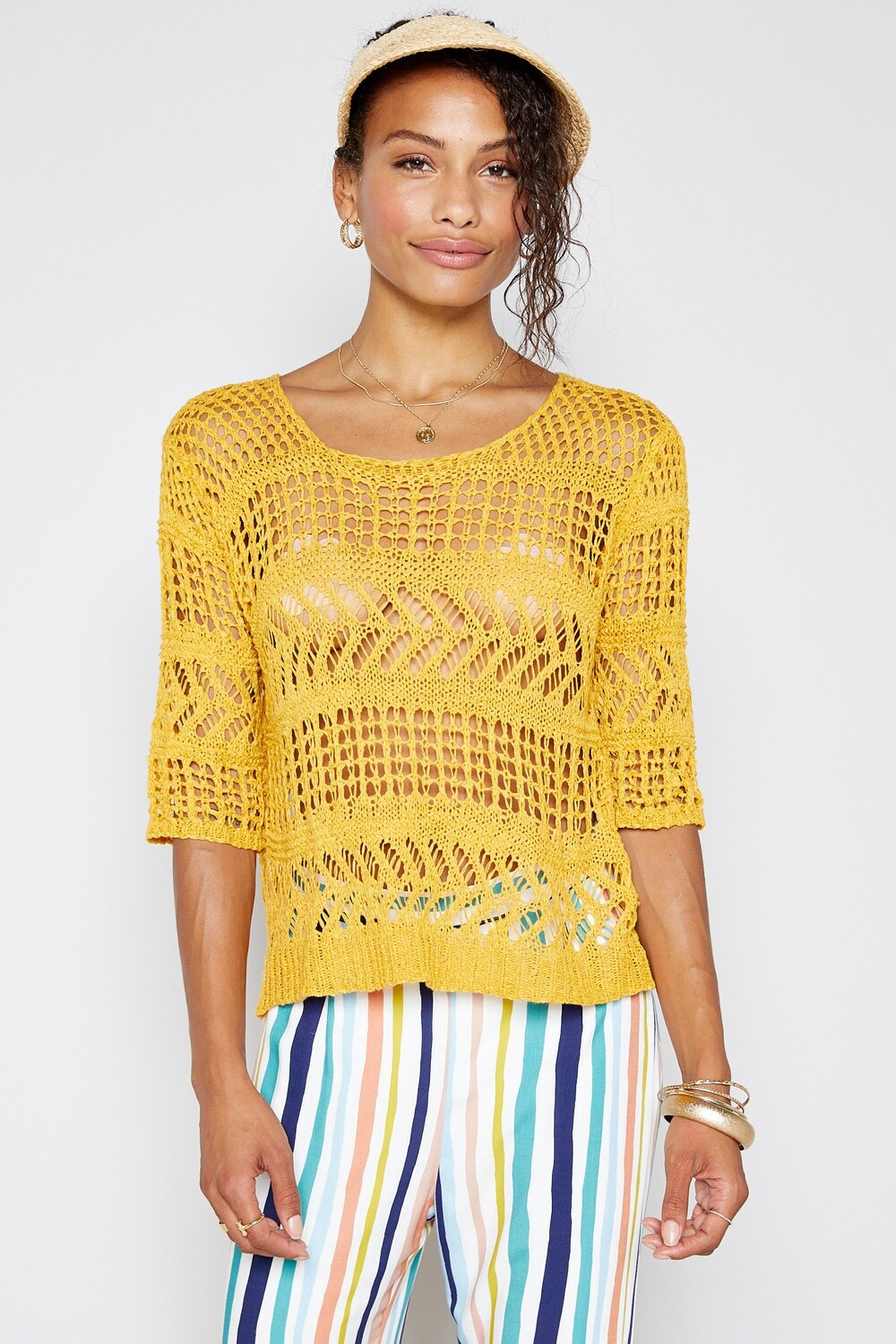 Sadie & Sage One More Day Sweater Canary