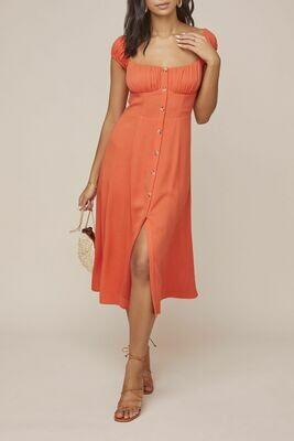 ASTR Bonjour Dress Tangerine
