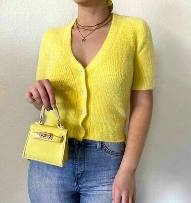 ASTR Cloud Nine Cardigan Yellow