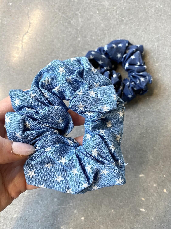 Denim Star Scrunchies