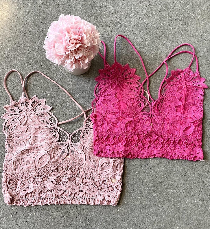 Crochet Mesh Lace Bralette