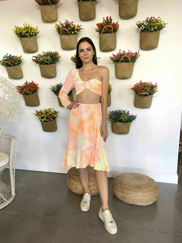 4si3nna Lana Pink Tie-Dye Skirt