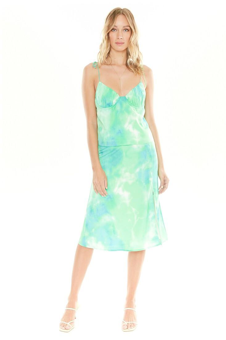 4si3nna Josie Green Tie-Dye Skirt