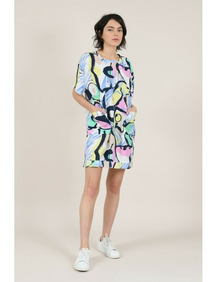 Molly Bracken Abstract Pastel Dress