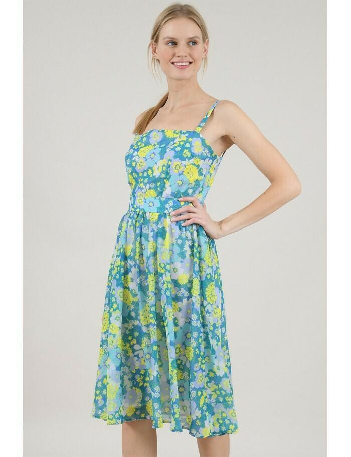 Molly Bracken Primroses Blue Dress