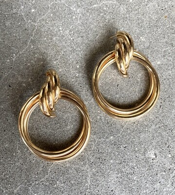 Hoops Oversized Drop Earrings