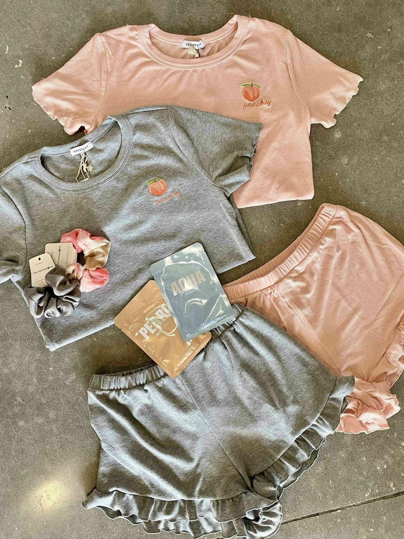 Crescent Peachy Pajama Set