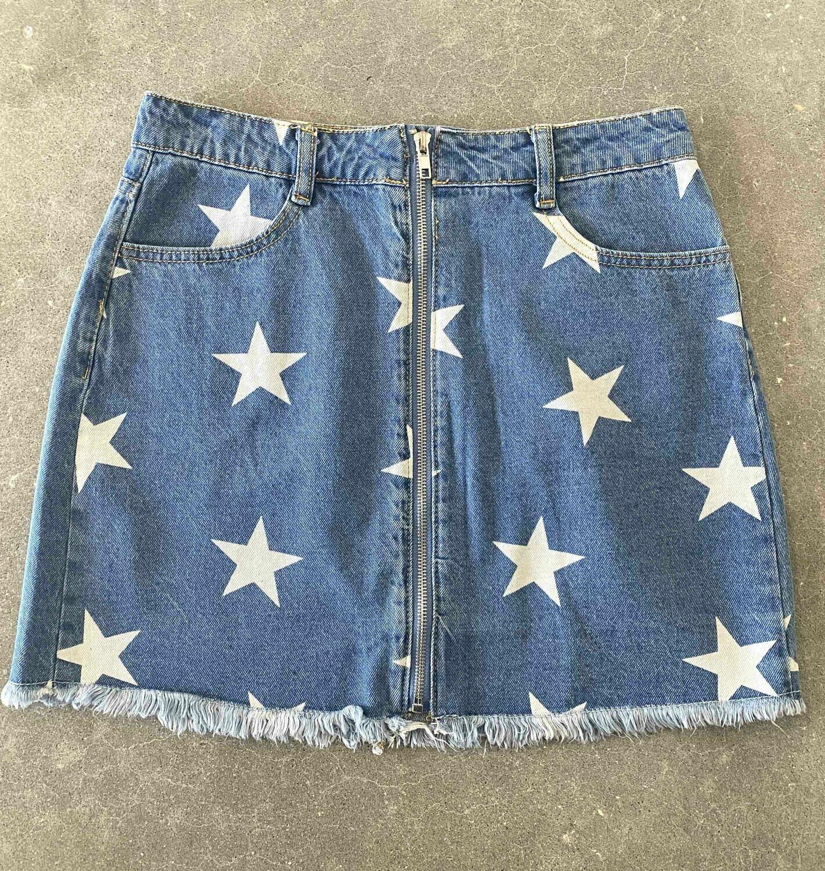 Le Lis Star Denim Skirt