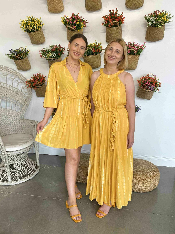 Moon River Yellow Maxi Dress