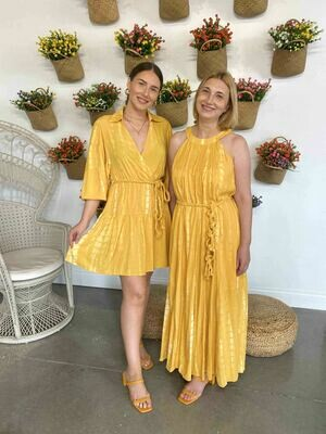 Moon River Yellow Maxi Dress