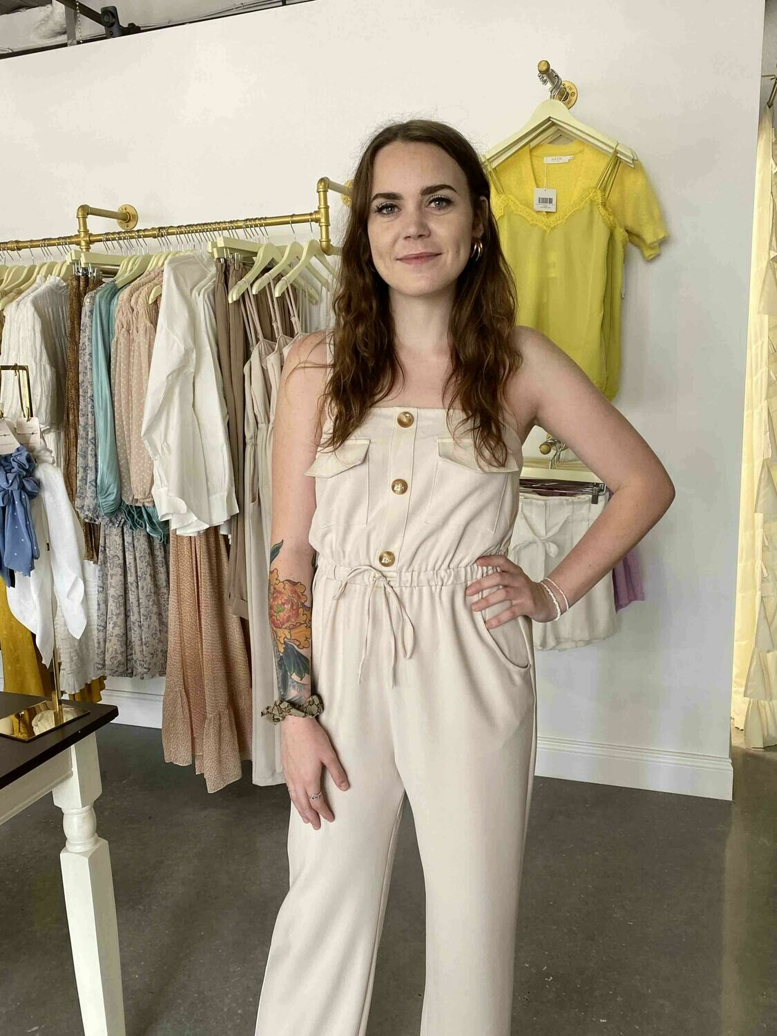 Line & Dot Mari Safari Jumpsuit