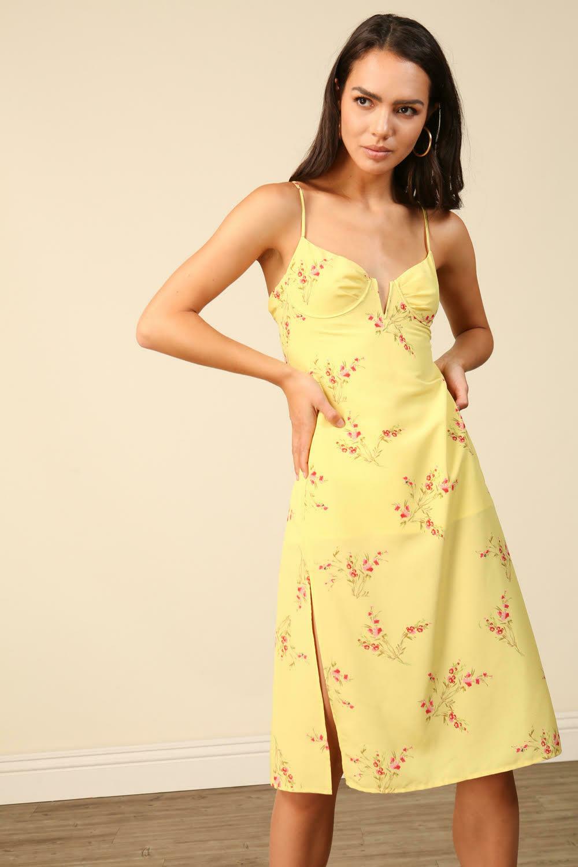 Line & Dot Park Midi Dress