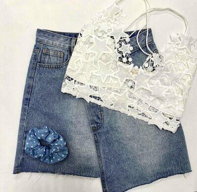 Star Crochet Mesh Lace Bralette
