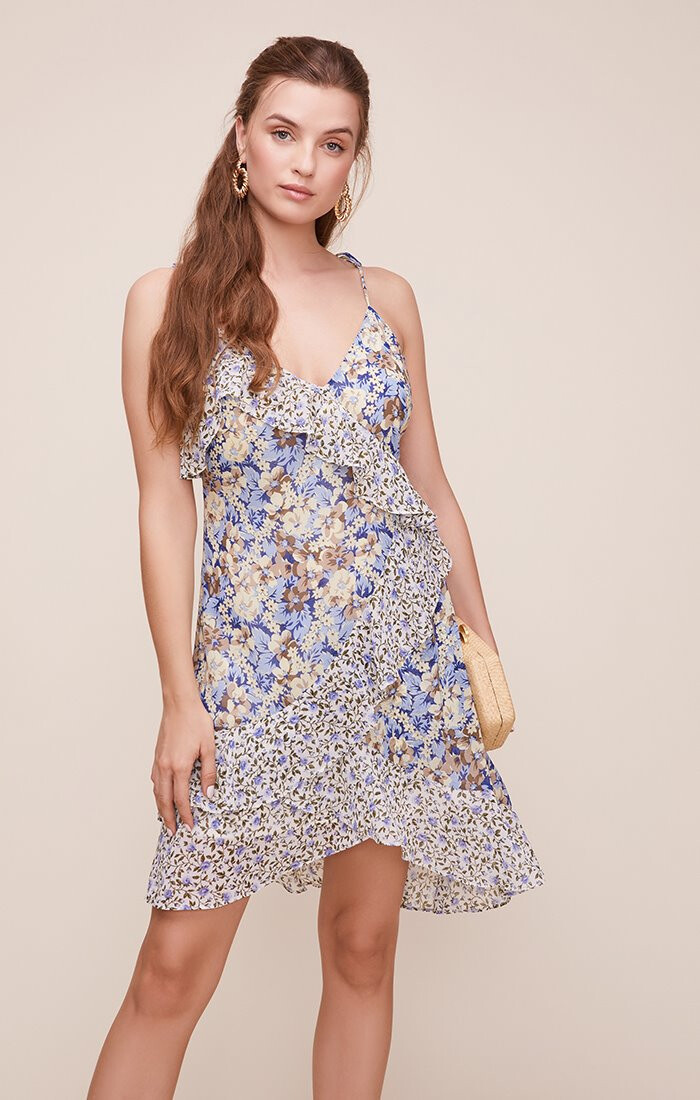ASTR Print Mix Mini Dress