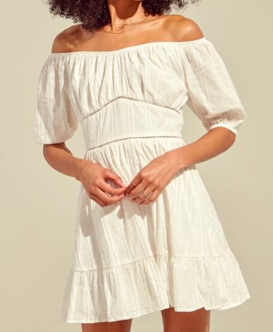 Blue Blush Off-Shoulder Dress