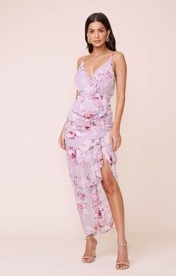 ASTR Lilac Floral Maxi Dress