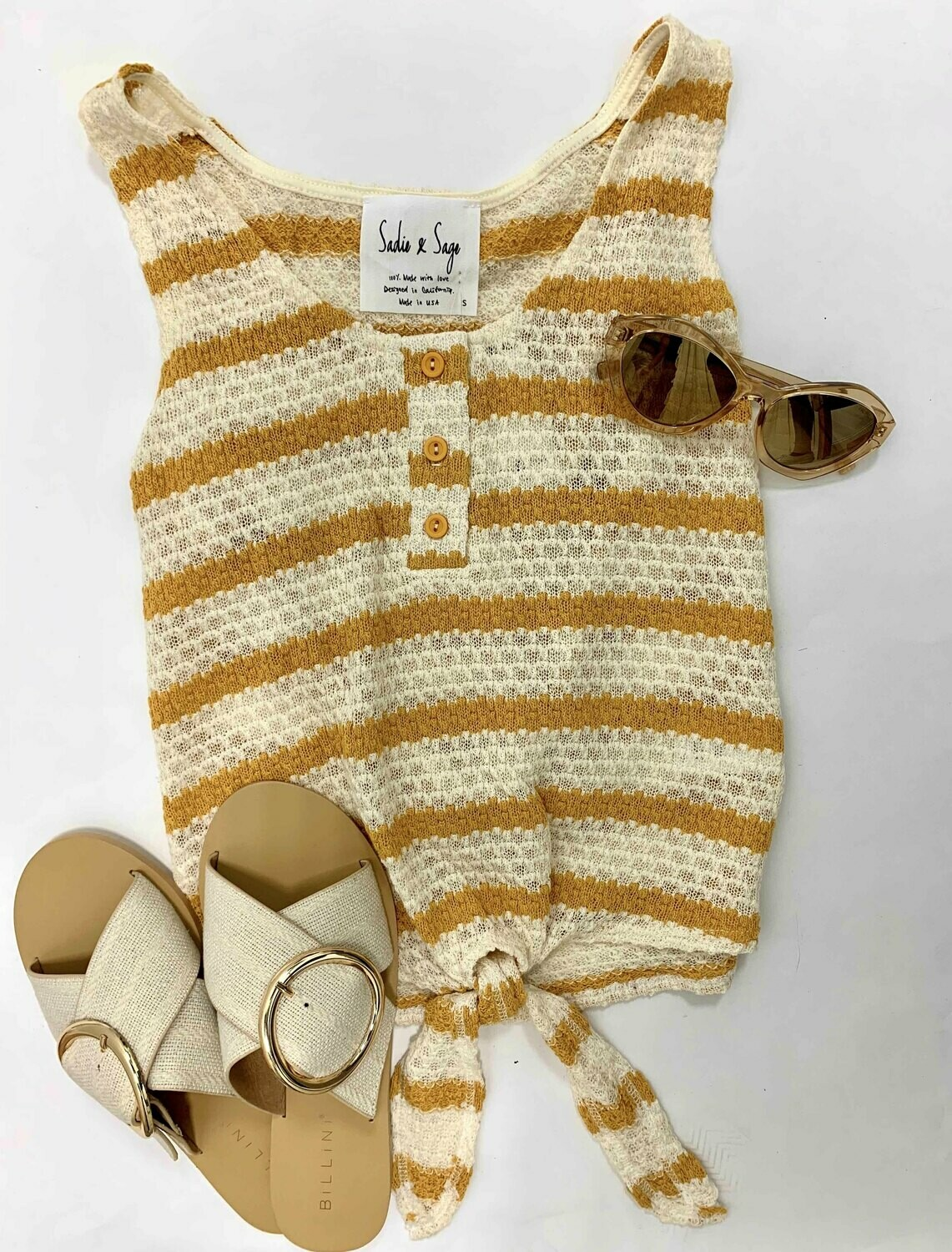 Ava Striped Knit Tank