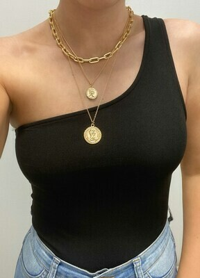Layered Coins Chain Necklace